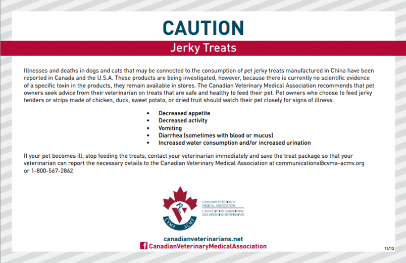 FDA Fact Sheet o Jerky Pet Treat Recall